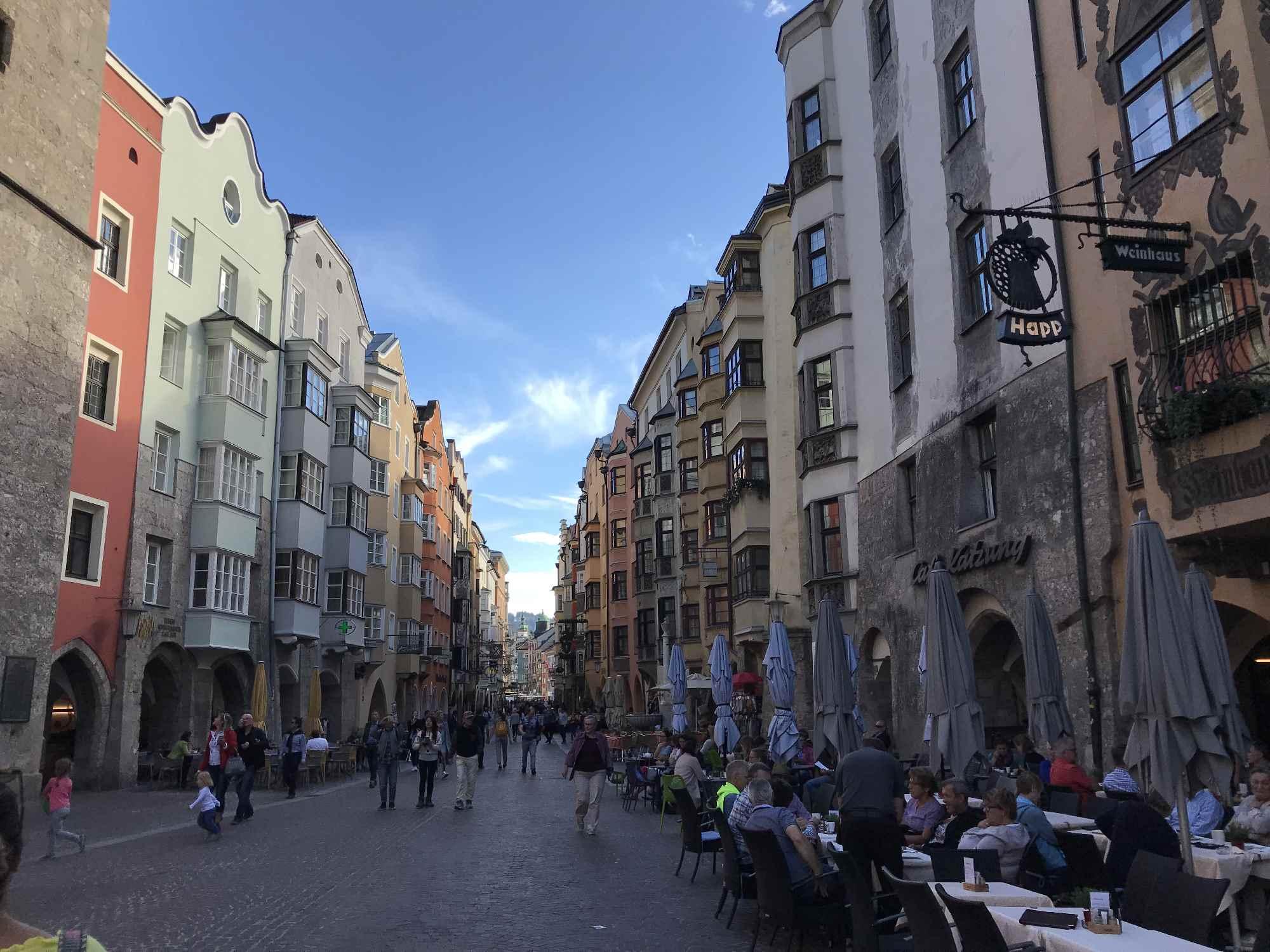 Die Altstadt in Innsbruck