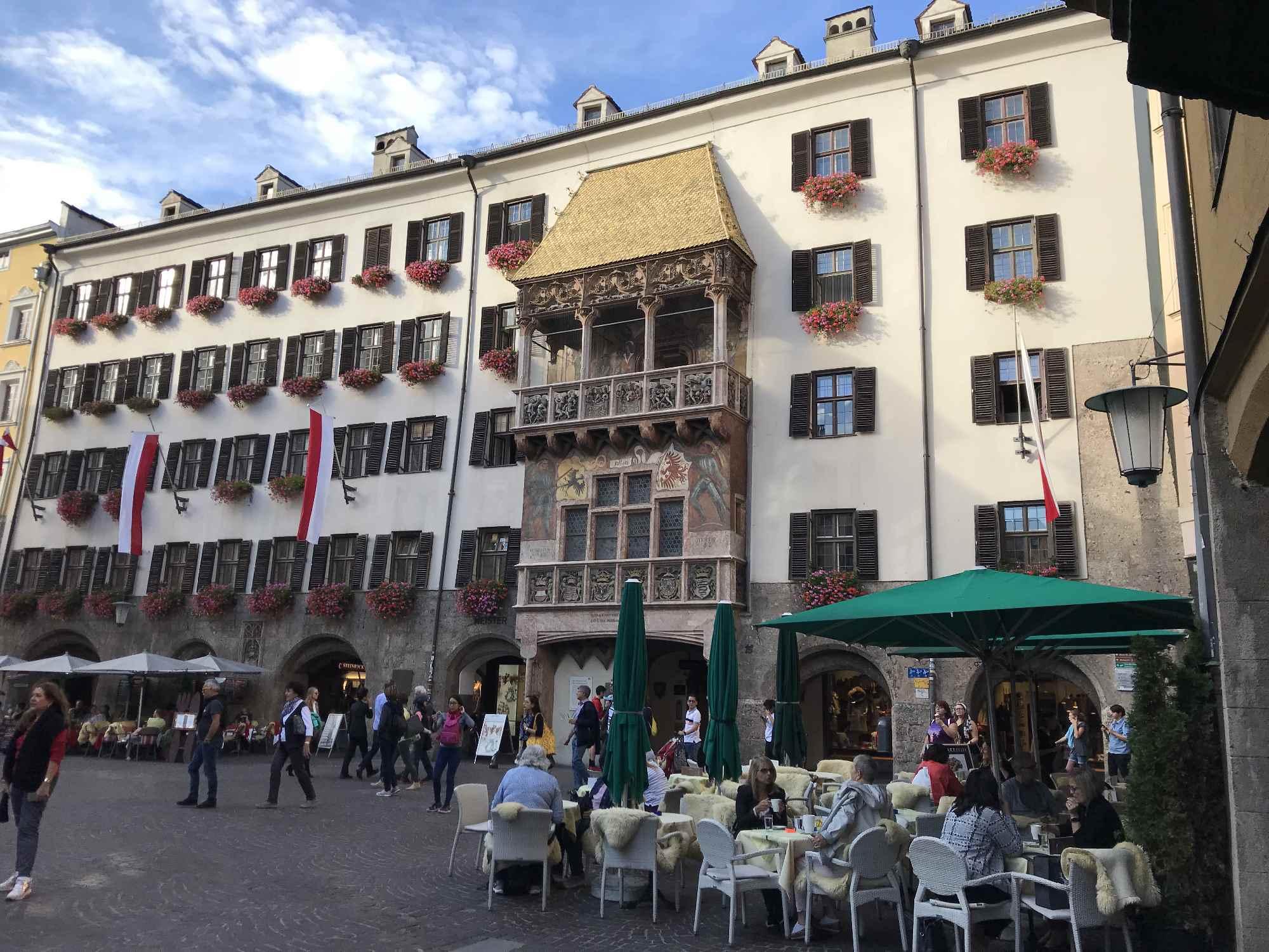 Die schöne Altstadt von Innsbruck