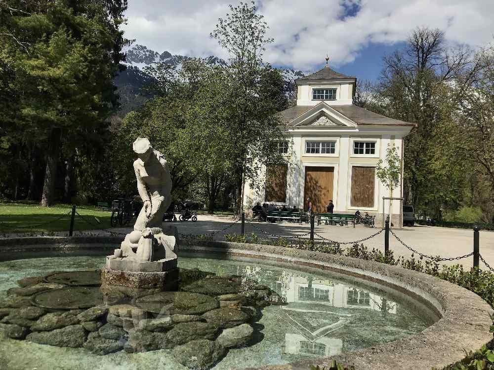 Der Musikpavillon im bekanntesten Park in Innsbruck, dem Hofgarten