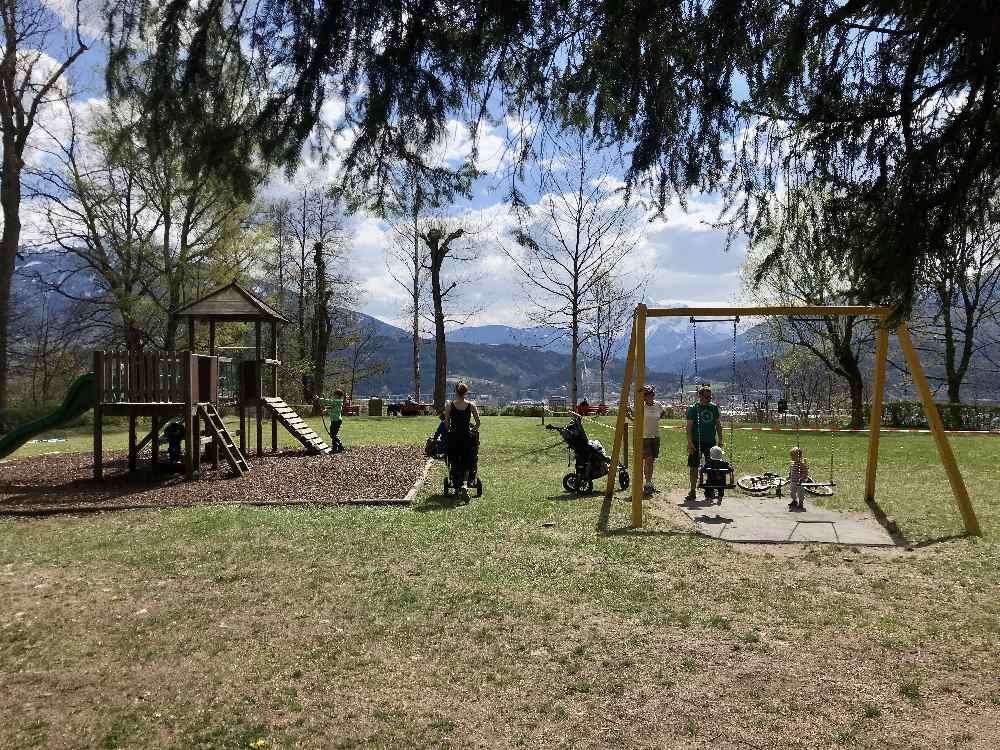 Spielplatz Innsbruck - am Judenbühel auf dem Weg zur Hungerburg