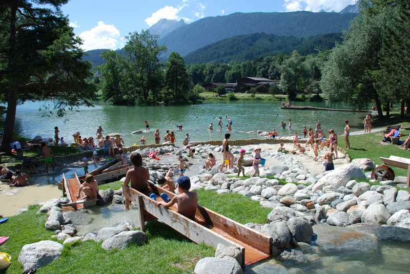 Badesee Weißlahn - ab Innsbruck sehr gut über den Innradweg zu erreichen