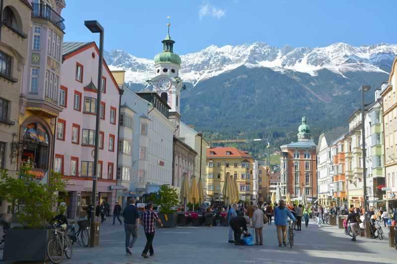 Hier schlägt das Herz der Stadt - Fussgängerzone Innsbruck