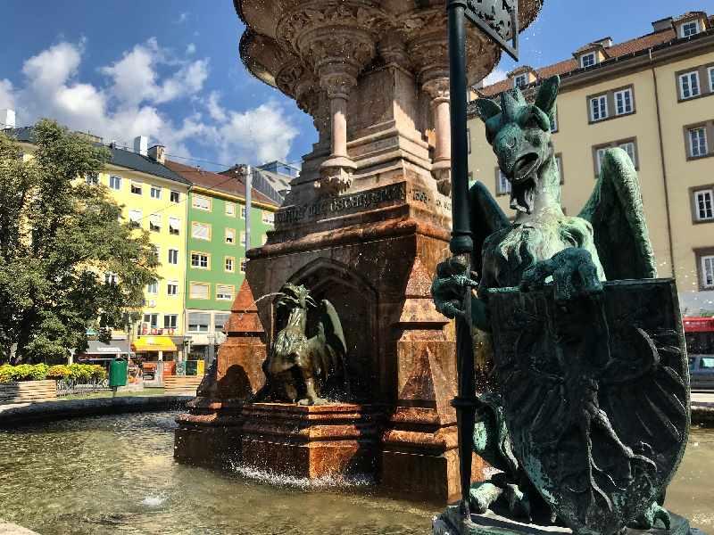 Rudolfsbrunnen Innsbruck - eine der weniger bekannten Innsbruck Sehenswürdigkeiten