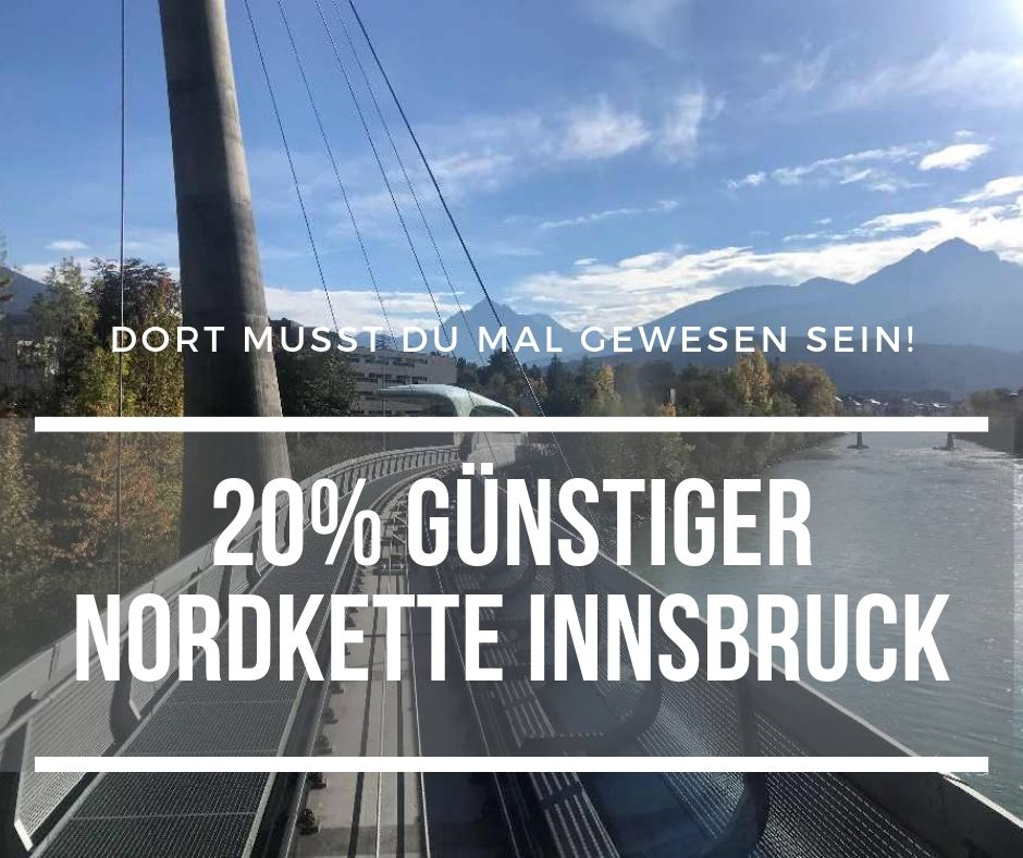 Nordkettenbahn Ticket um 20% günstiger!