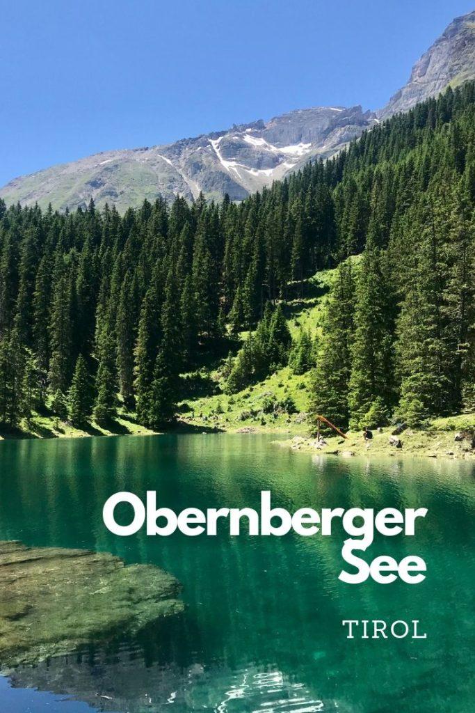See Innsbruck - der Obernberger See in Tirol