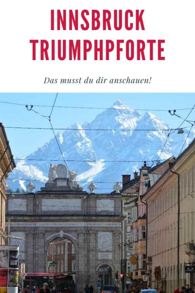 Triumphpforte Innsbruck mit Serles