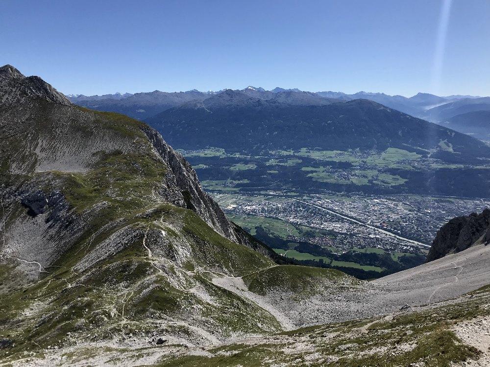 Goetheweg Ausblick auf die Stadt Innsbruck