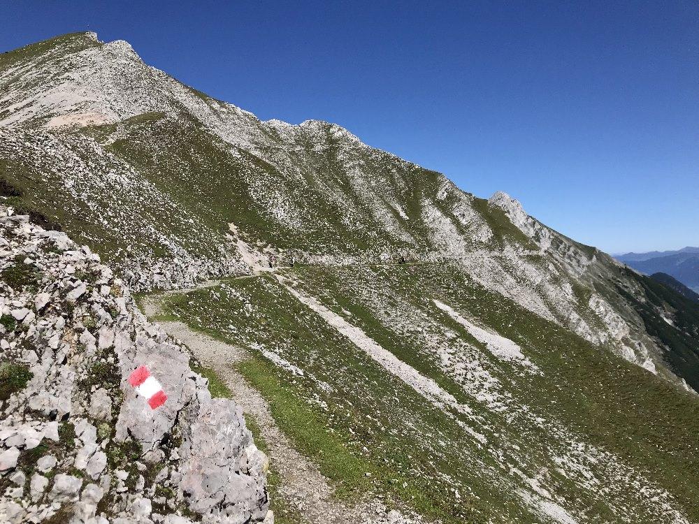 Goetheweg wandern hoch über Innsbruck