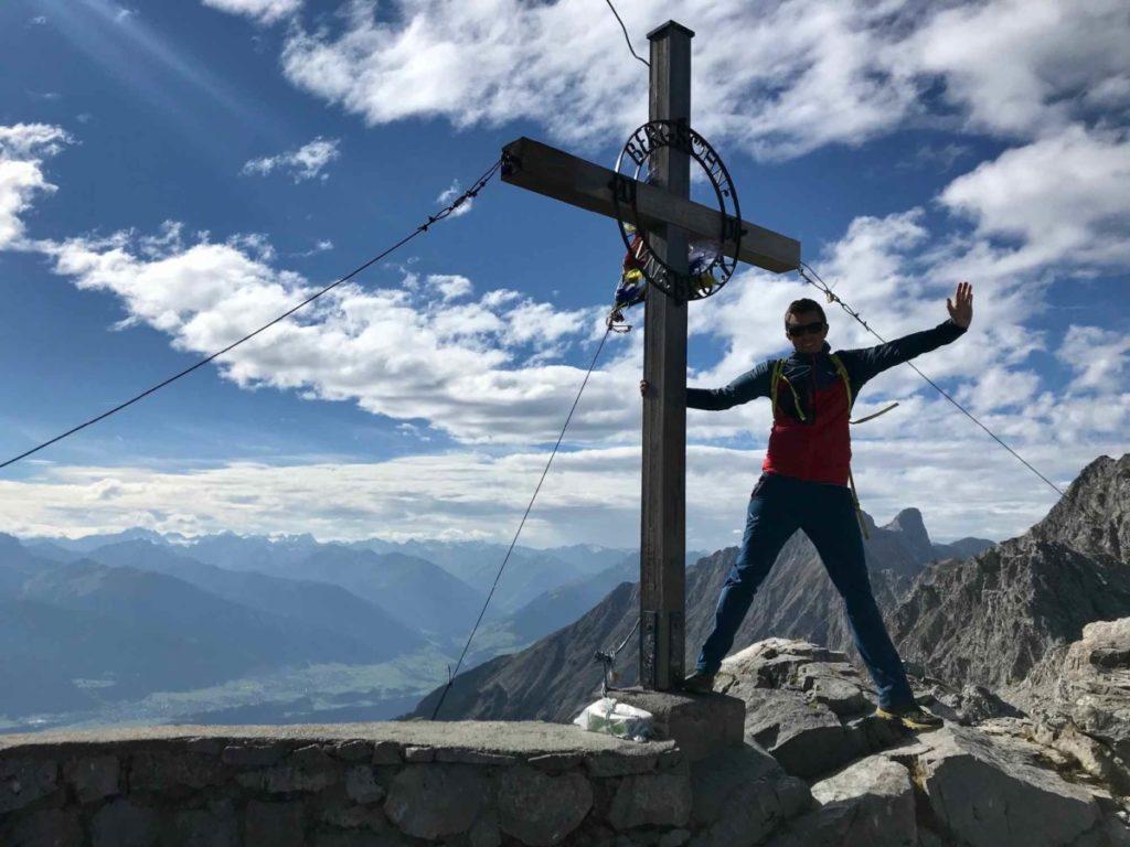 Top of Innsbruck:Höchster Punkt am Hafelekar - die 2334 m hohe Hafelekarspitze im Karwendel, Innsbruck