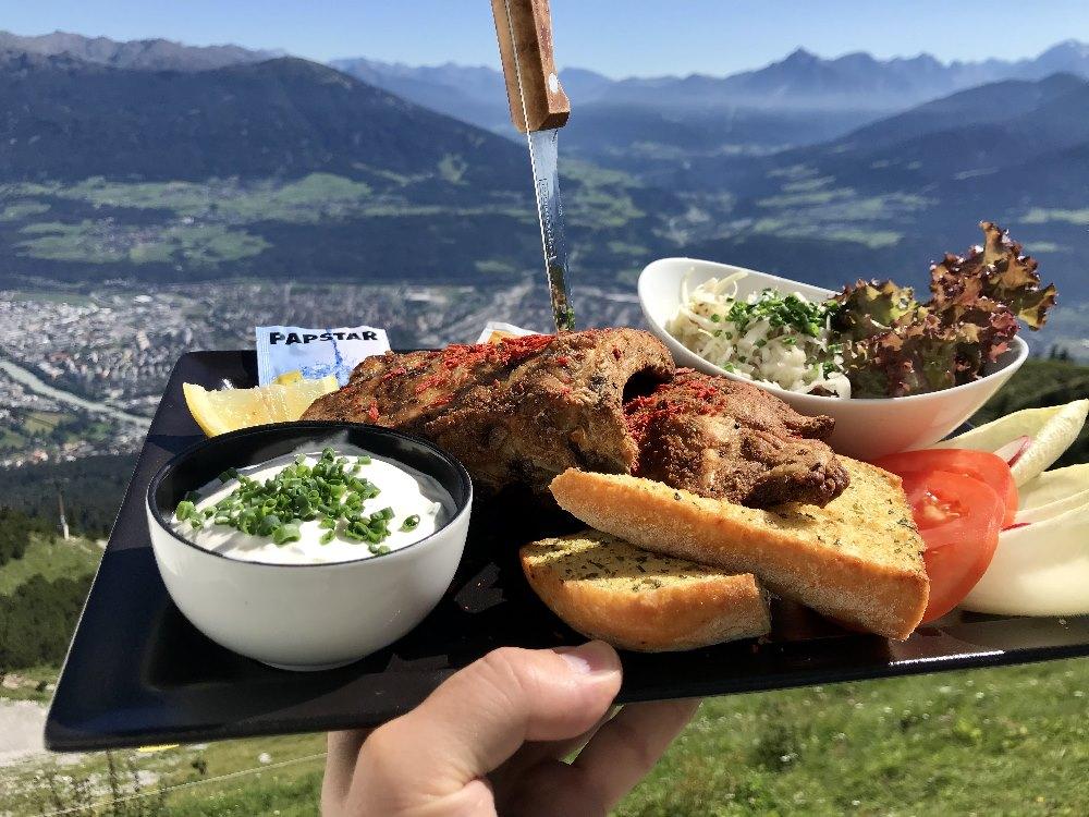 Restaurant Seegrube - auf eine gute Portion Ripperl, mit Ausblick
