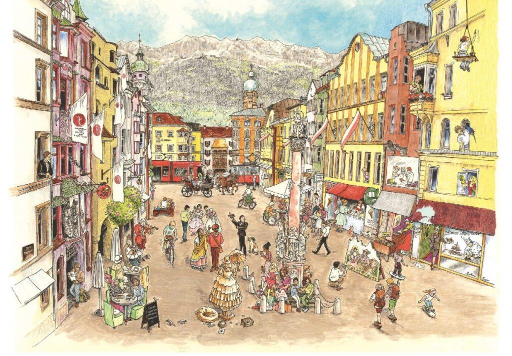 Altstadt Innsbruck - kindgerecht gezeichnet