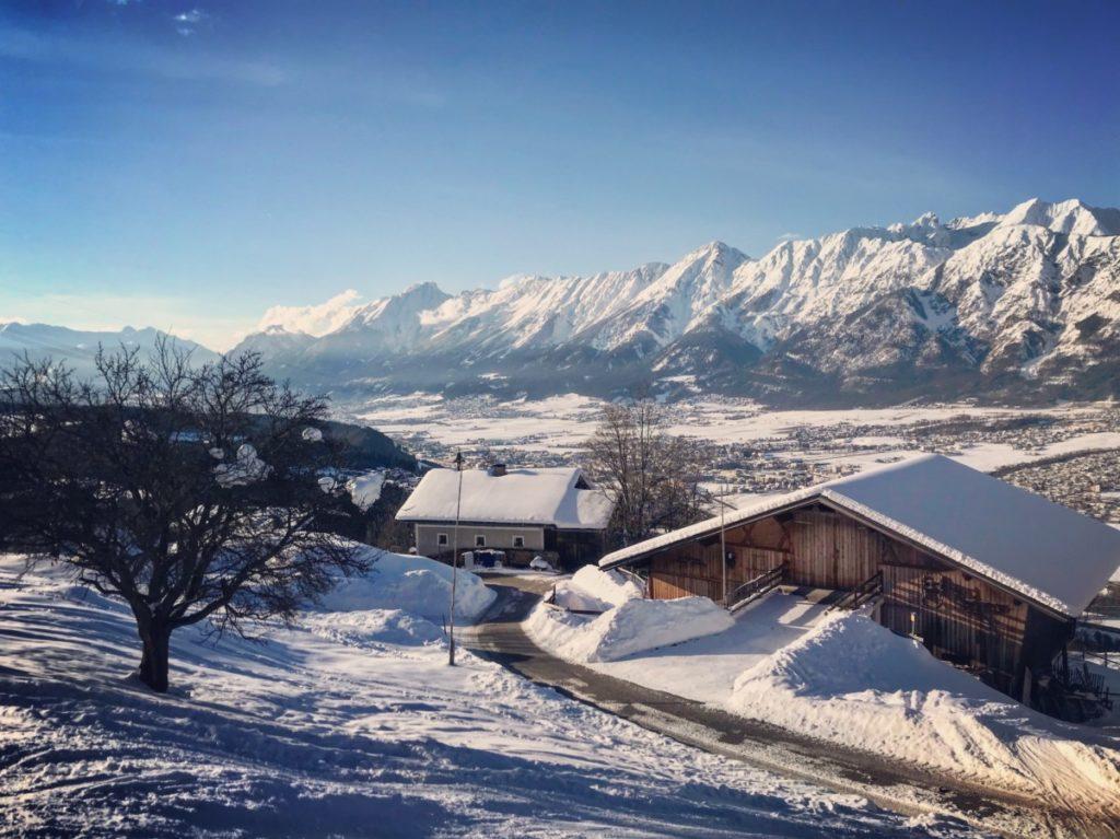 Toller Ausblick auf das Karwendel und die Stadt