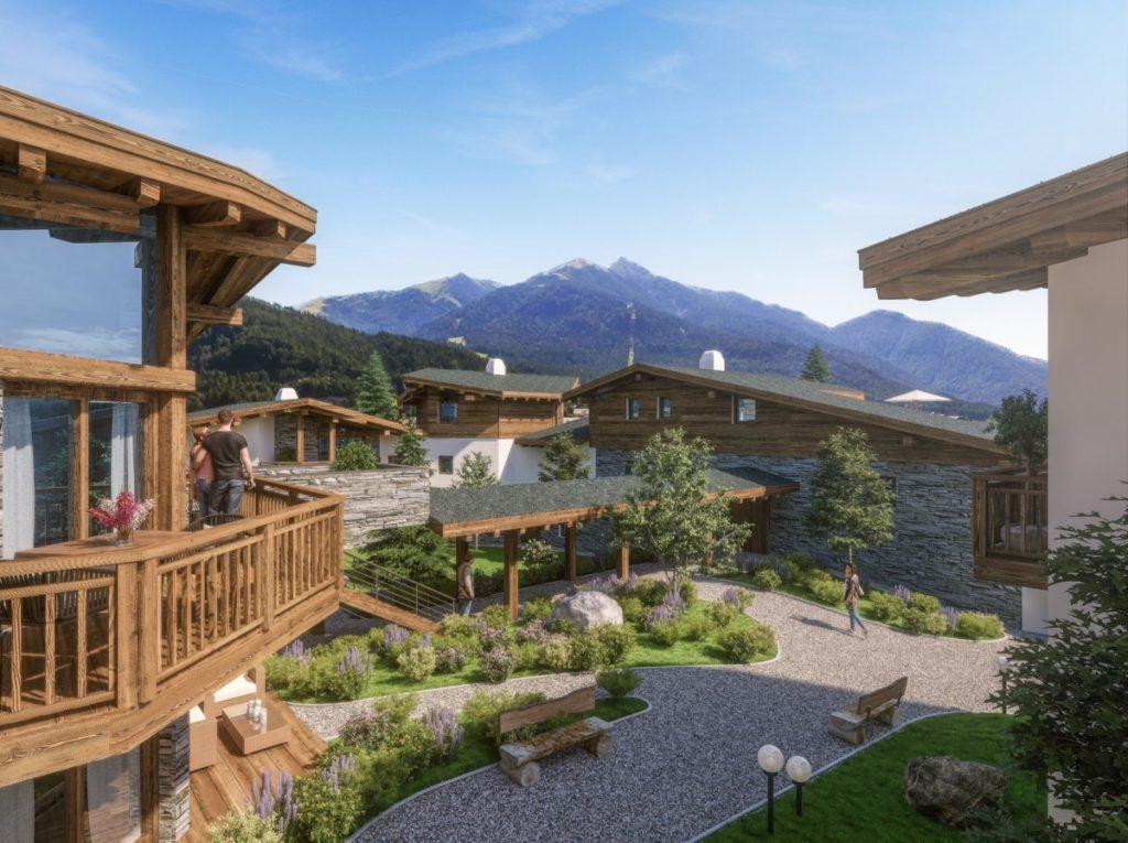 Alpenparks Chalet nahe Innsbruck - so schaut das Almdorf in den Bergen aus