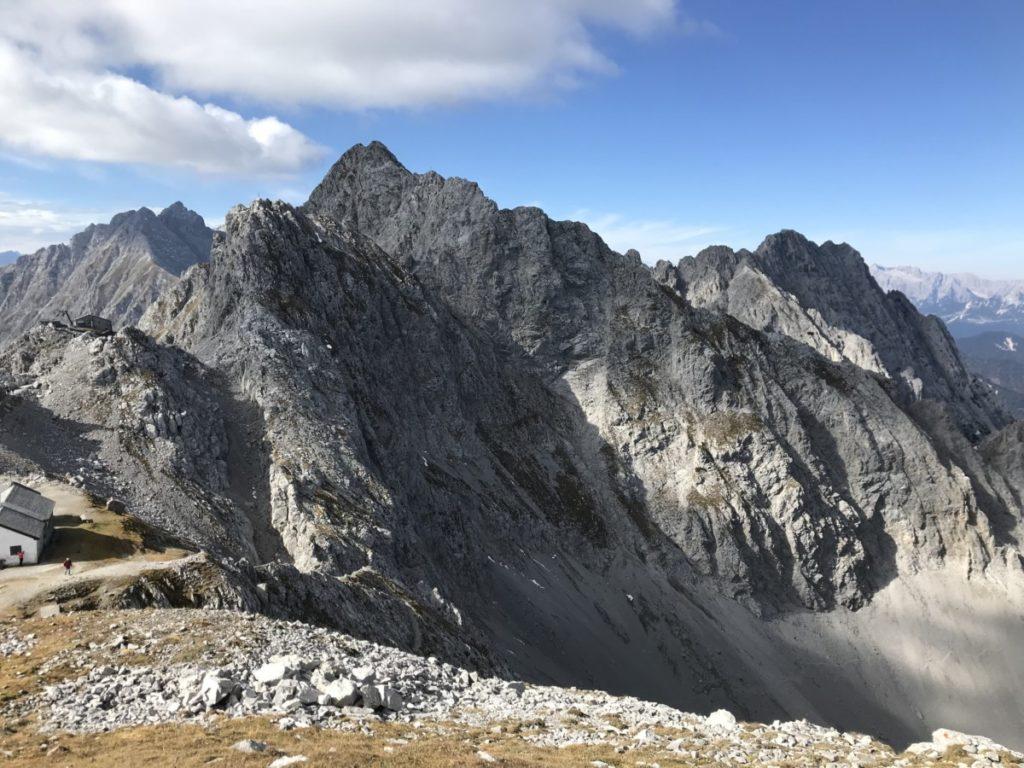 Ausblick Hafelekarspitze Innsbruck auf´s Karwendel