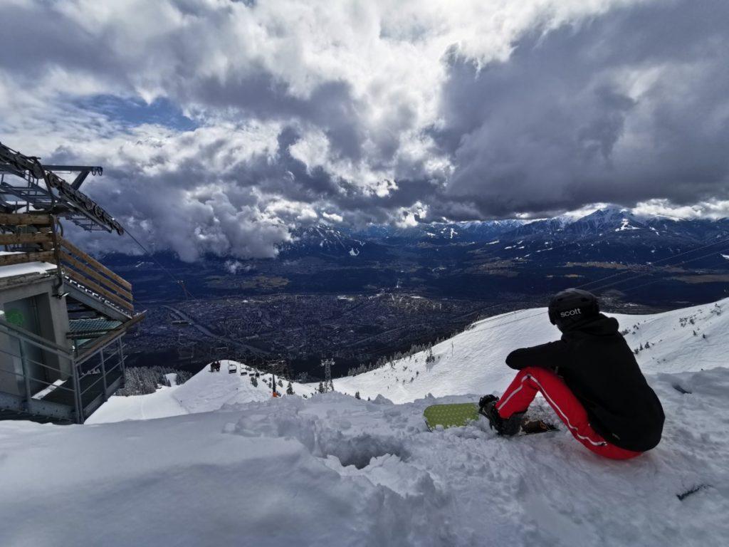 Skigebiet Innsbruck mit Ausblick