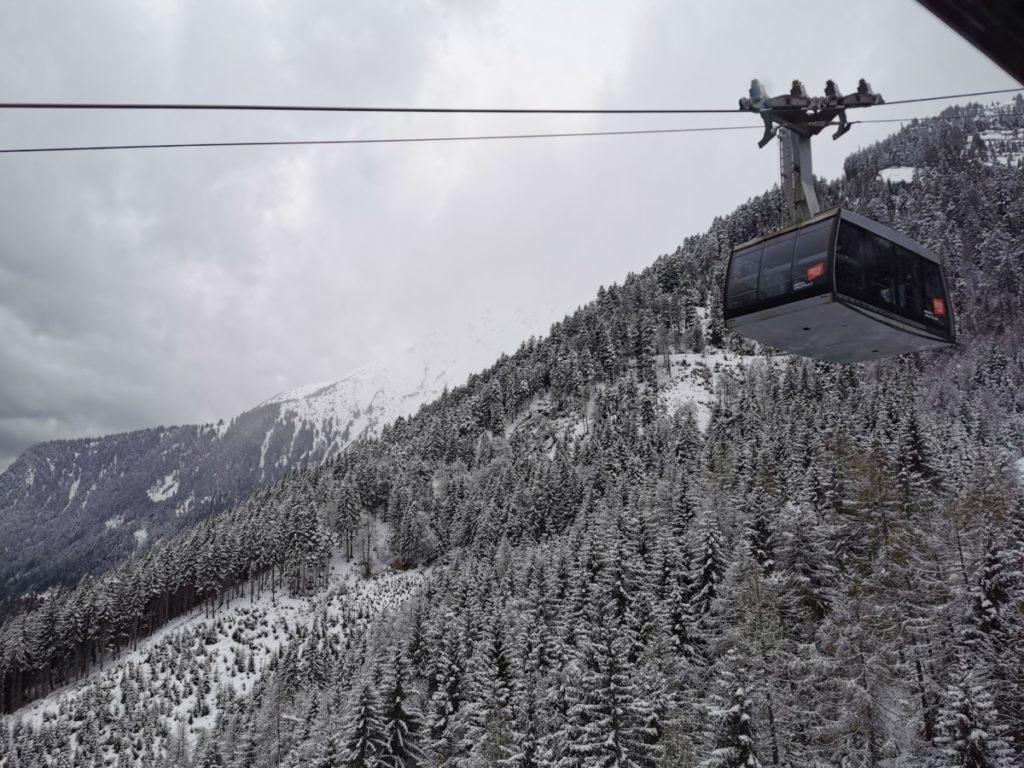 Winter Innsbruck auf der Nordkette, unterhalb der Seegrube