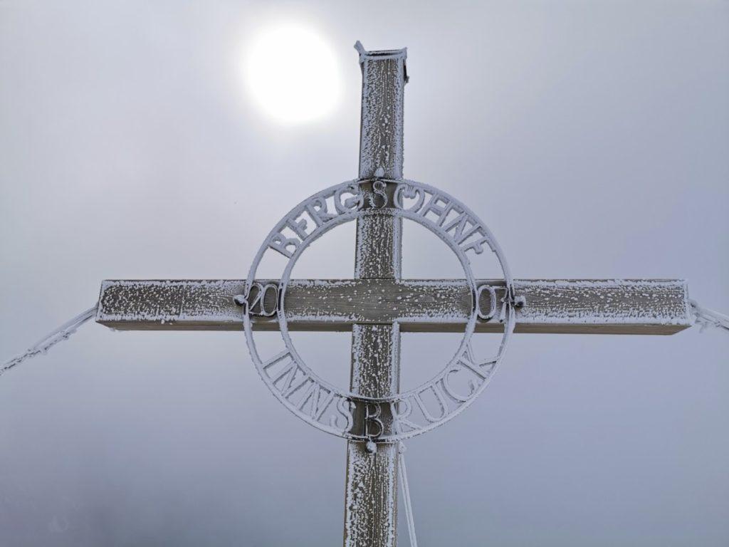 Mein Ziel ist das Kreuz auf der Hafelekarspitze