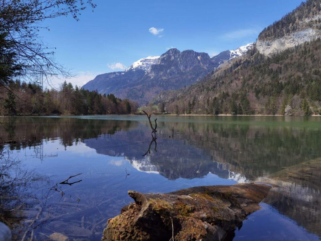 Reintaler See Innsbruck - toll für eine Frühlingswanderung und im Sommer zum Schwimmen