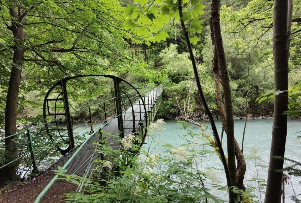 Die zweite Brücke über die Sill in der Sillschlucht